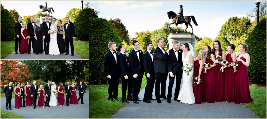 Boston Public Garden Autumn Wedding