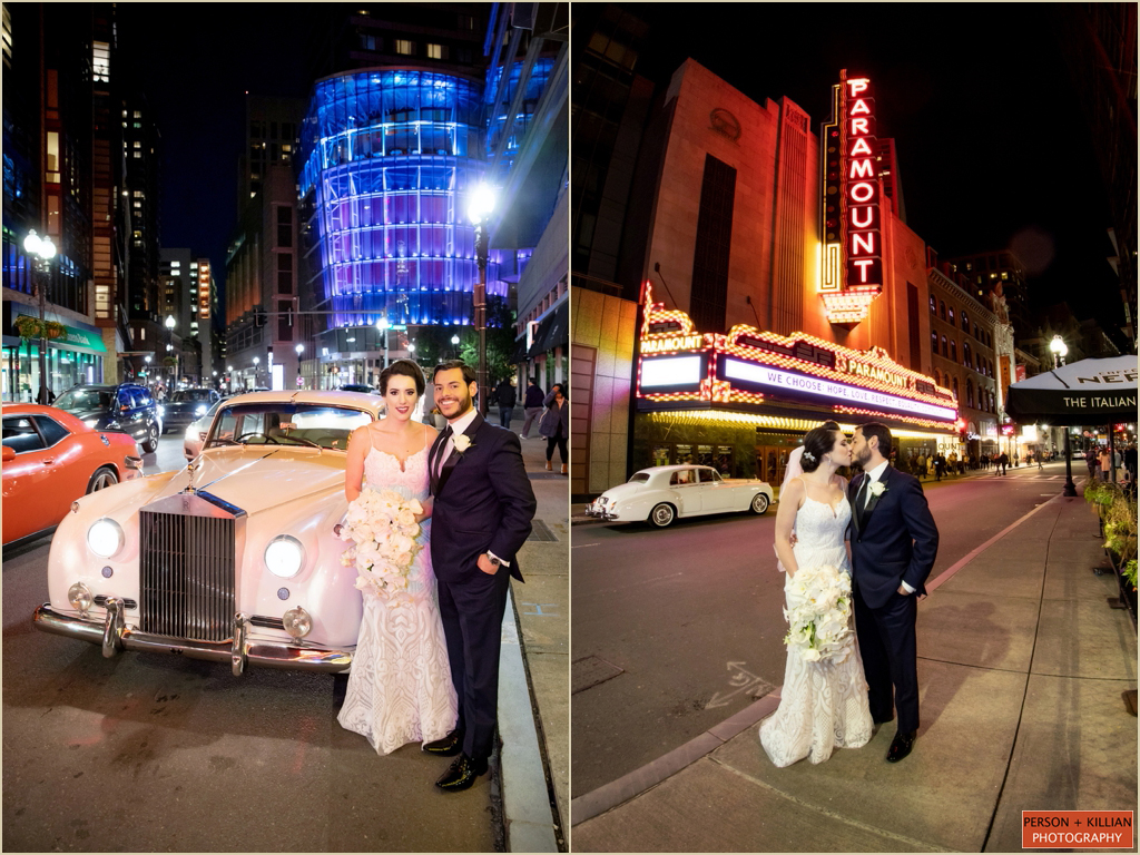 Paramount Theater Boston Wedding Photography