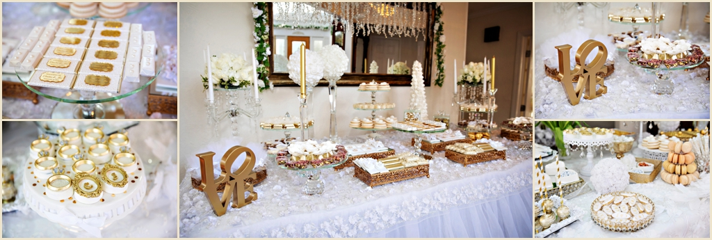 White and Gold Winter Wedding Boston