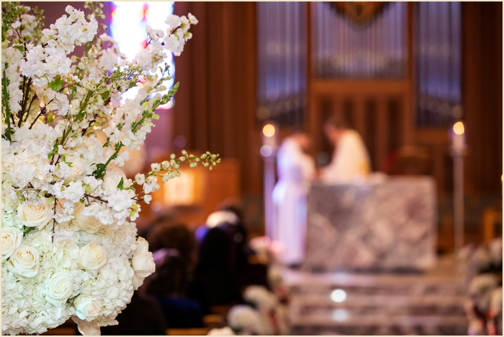 Classic Winter Wedding Ceremony Boston