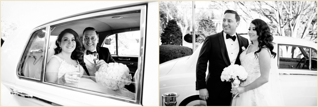 Winter Wedding Boston Rolls Royce