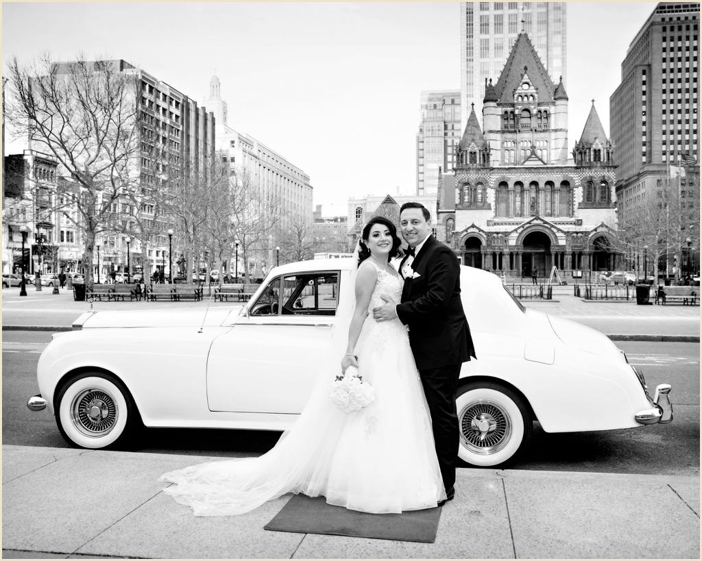 Copley Square Boston Winter Wedding