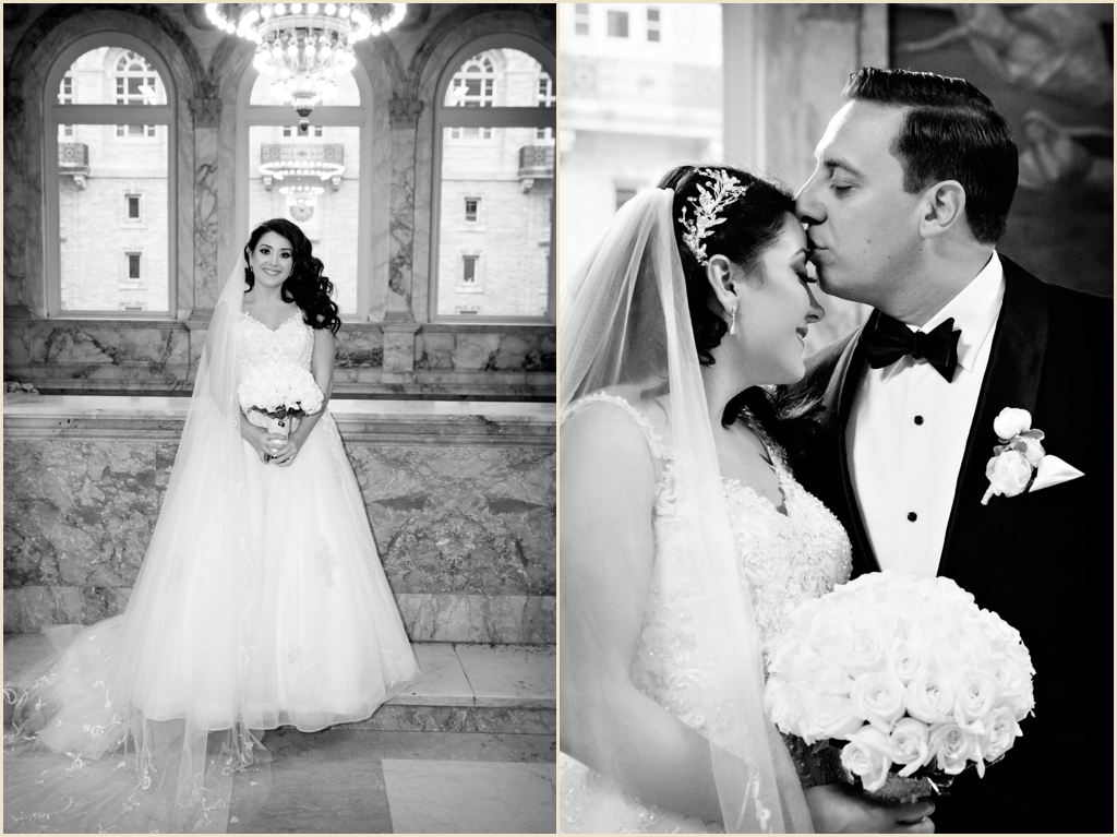Classic Winter Wedding Boston Public Library