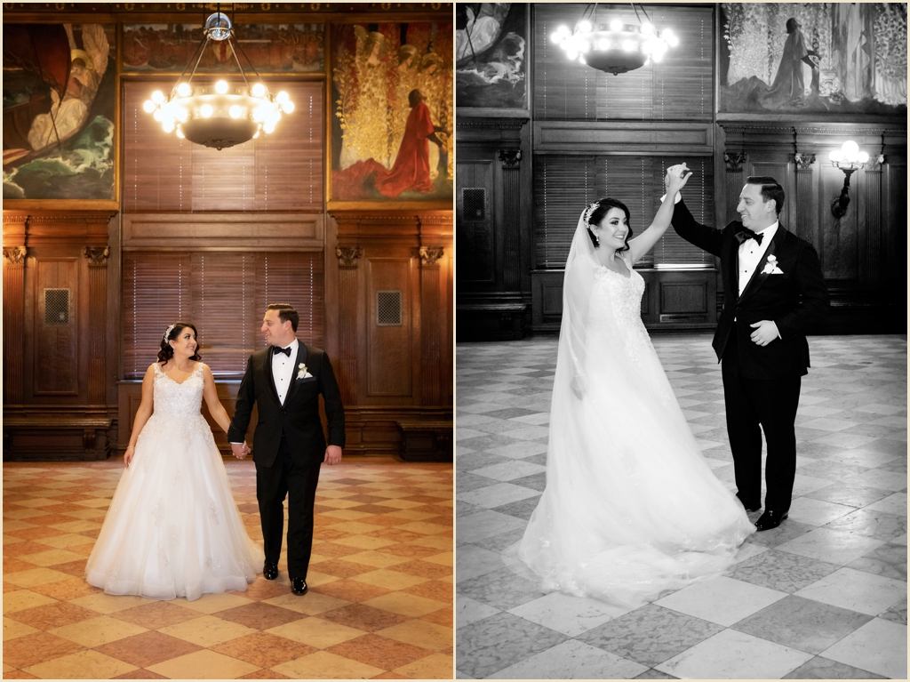 Boston Public Library Winter Wedding