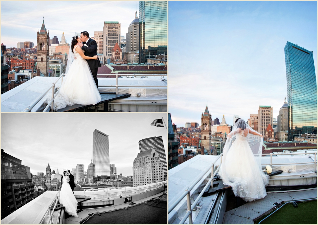 The Lenox Hotel Boston Wedding Rooftop