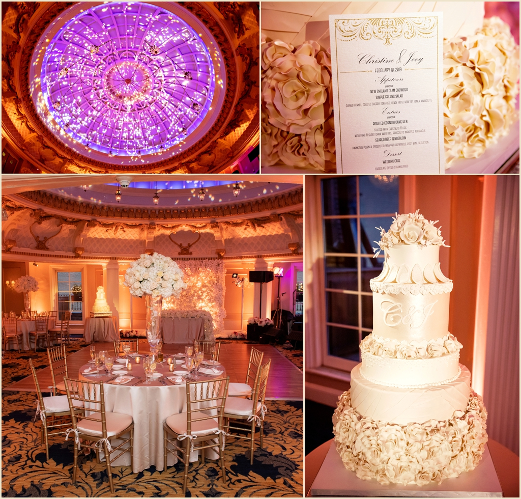 Winter Wedding Boston Lenox Hotel Dome Room