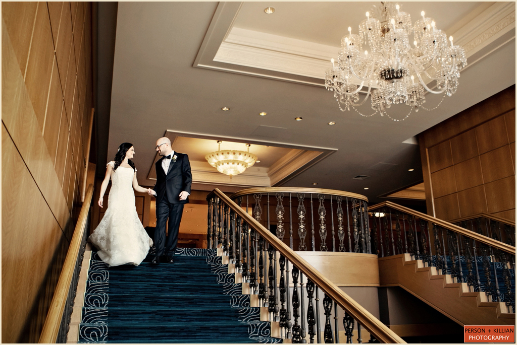 Four Seasons Hotel Boston Wedding Grand Staircase