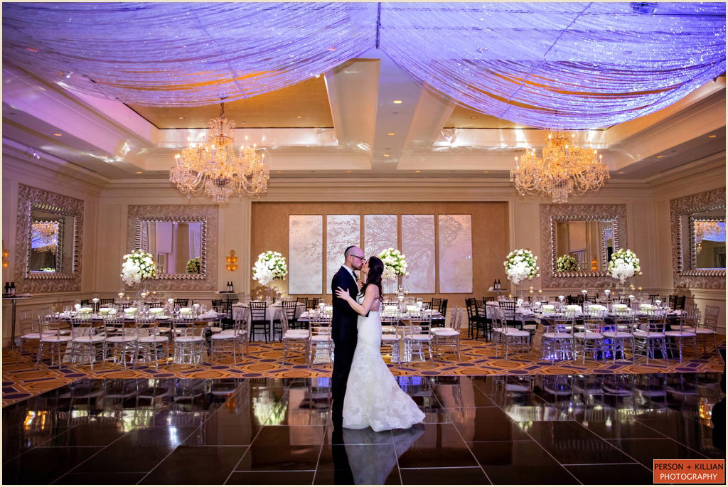 Sophisticated Black and White Wedding Four Seasons Hotel Boston