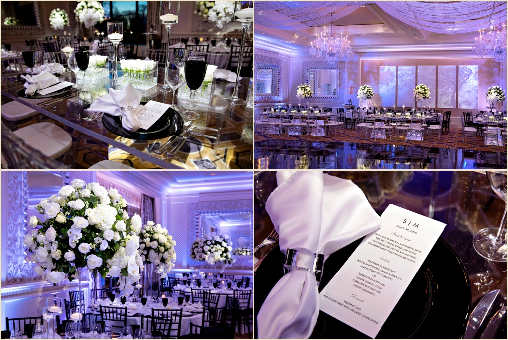 Four Seasons Hotel Boston Wedding Black White Silver