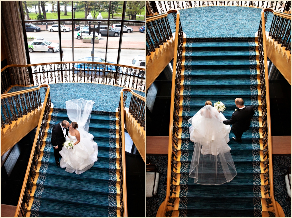 Four Seasons Boston Staircase Wedding