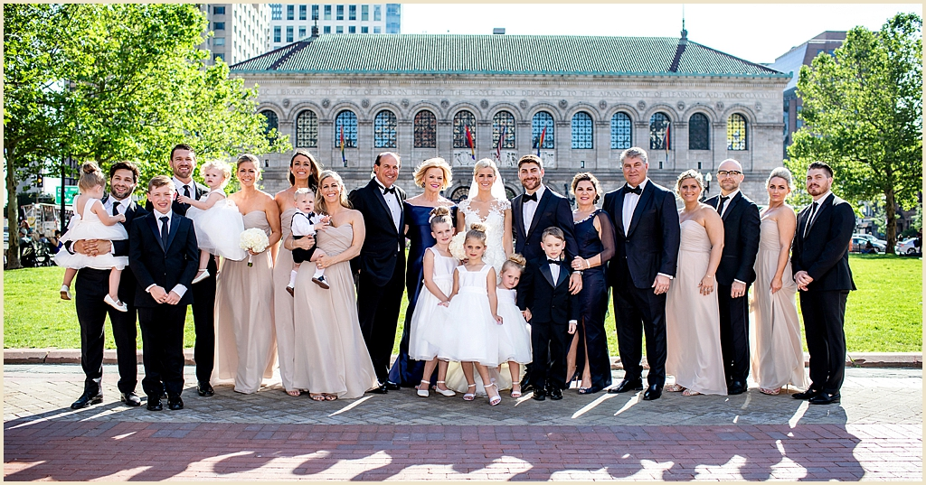 Copley Square Boston Summer wedding photography