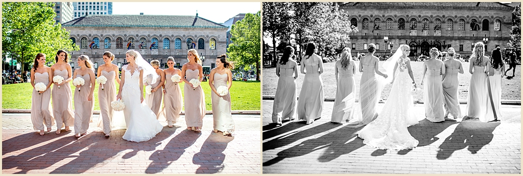 Summer wedding Boston Copley Square