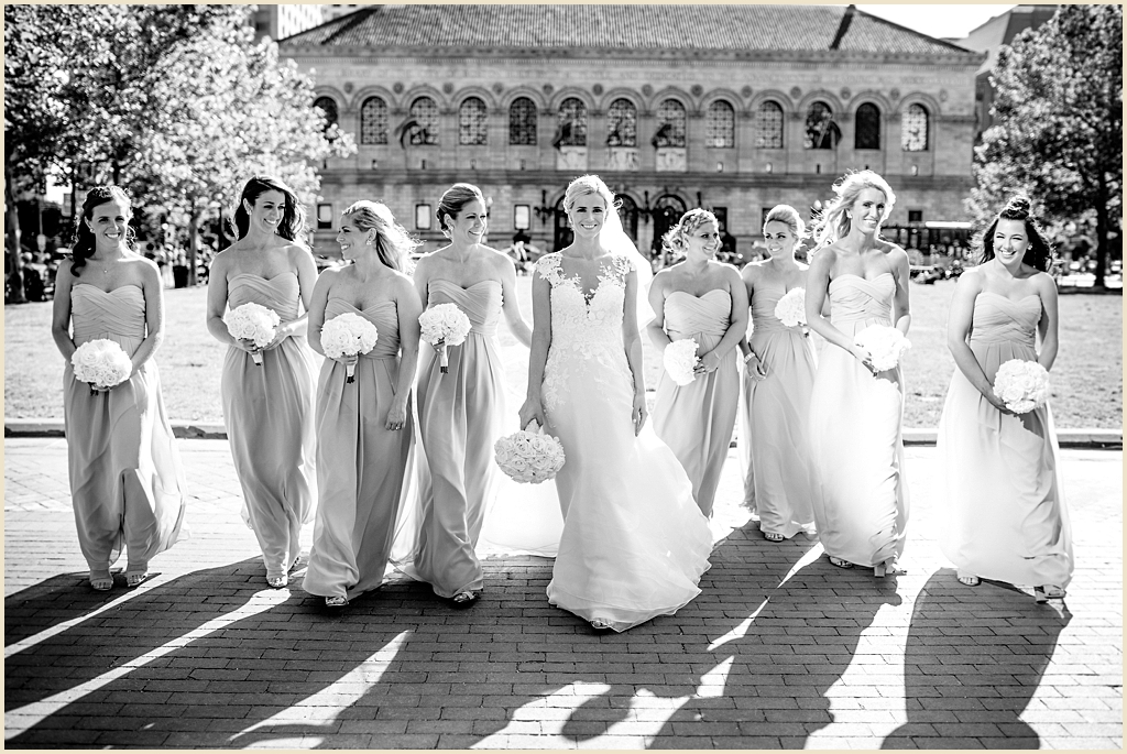 Boston Copley Square summer wedding photography