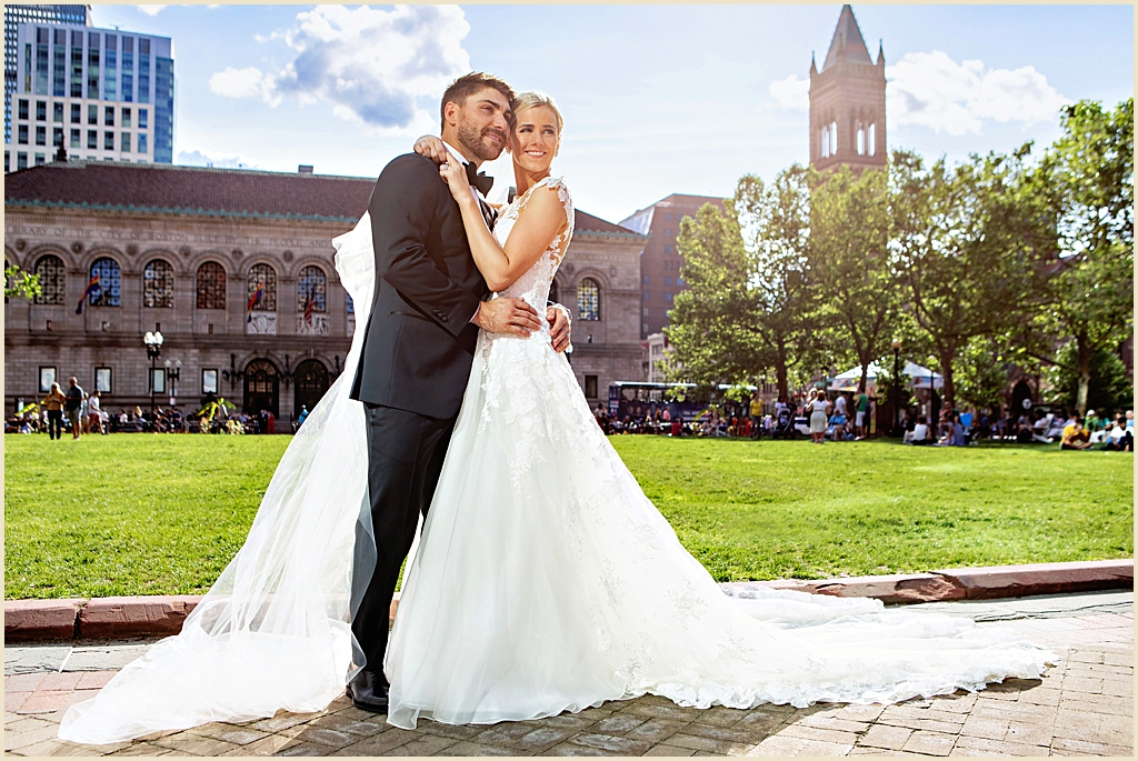 Wedding photography Boston Copley Square