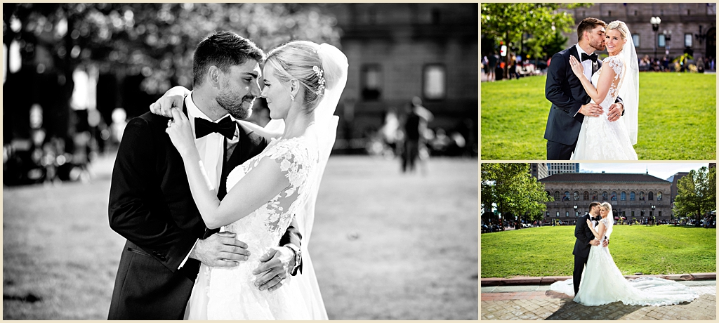 Summer wedding photography Boston Copley Square