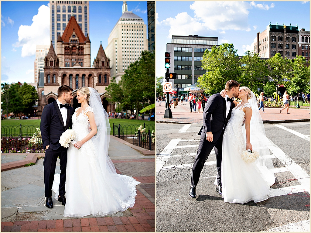 Copley Square Boston Summer Wedding