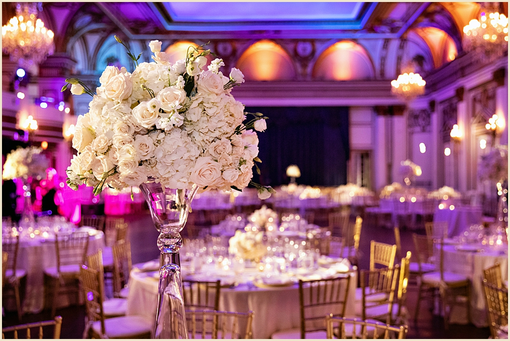 Fairmont Copley Plaza Ballroom summer wedding
