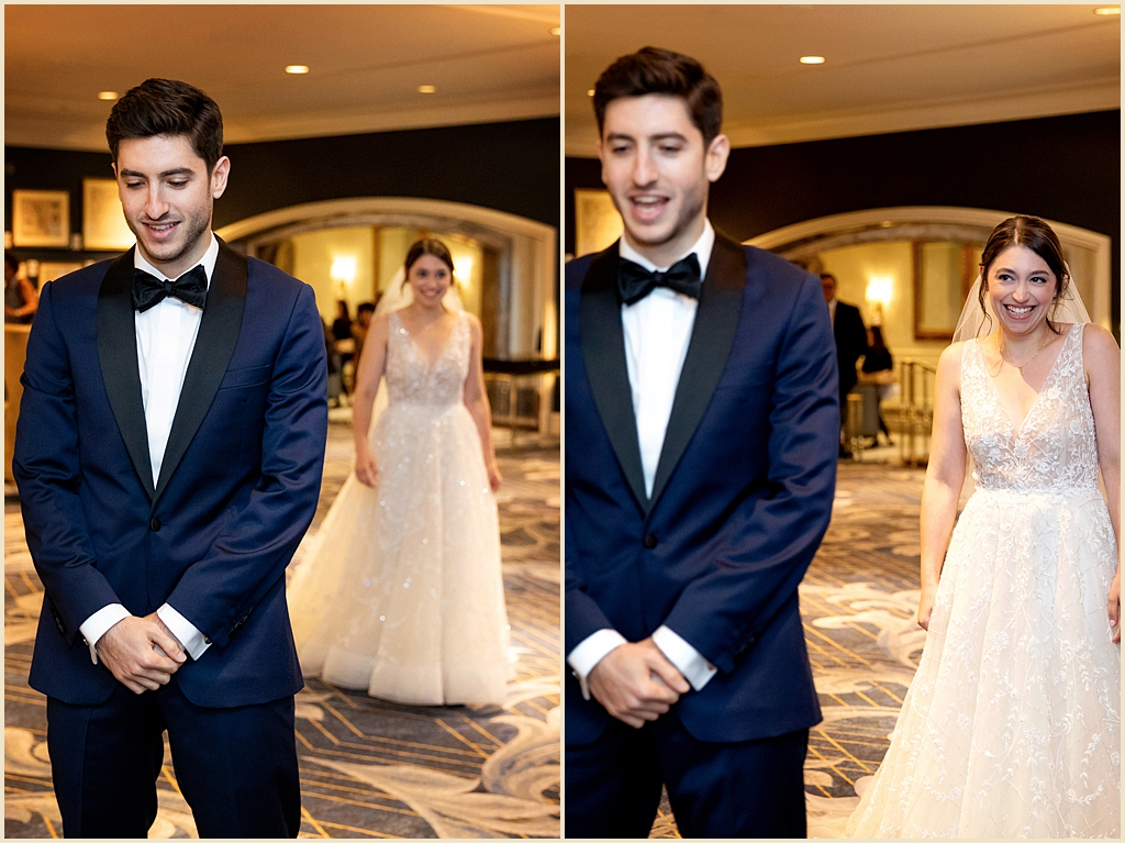 Boston Harbor Hotel Wedding First Look