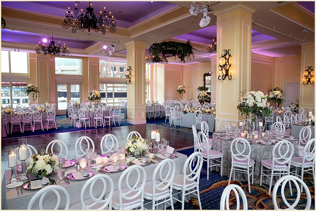 Boston Harbor Hotel Ballroom Wedding Reception