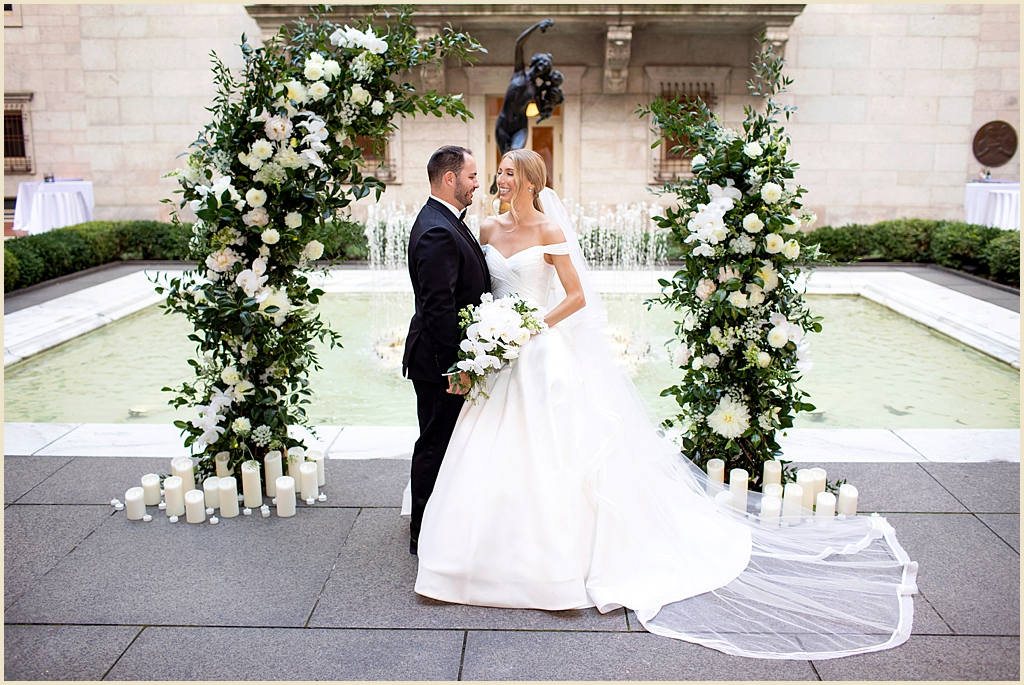 Boston Public Library Courtyard Wedding