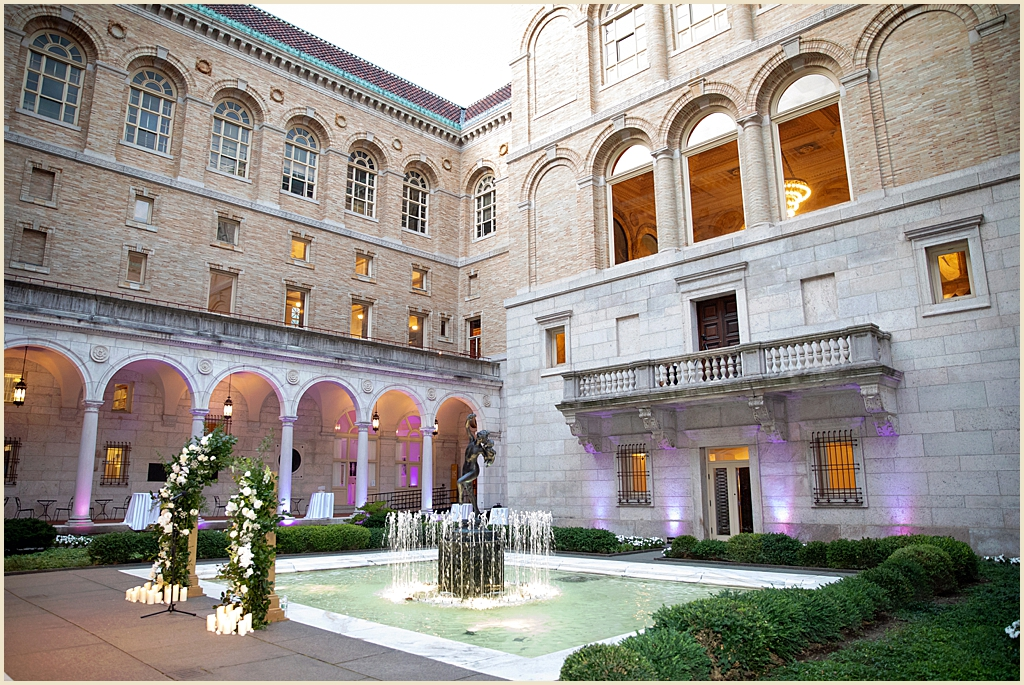 Wedding Ceremony Boston Public Library Courtyard