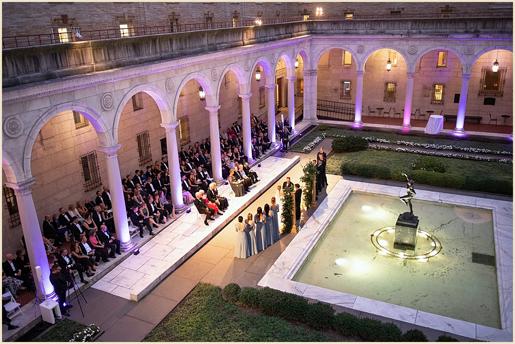 Summer Wedding Boston Public Library Courtyard