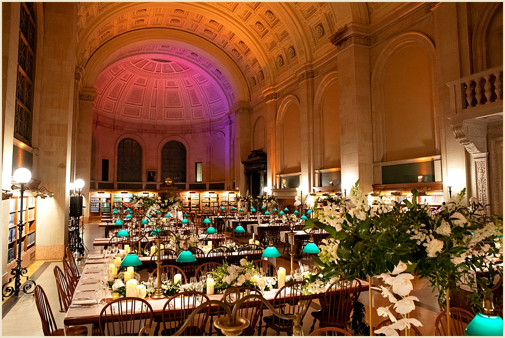 Bates Hall Boston Public Library Wedding