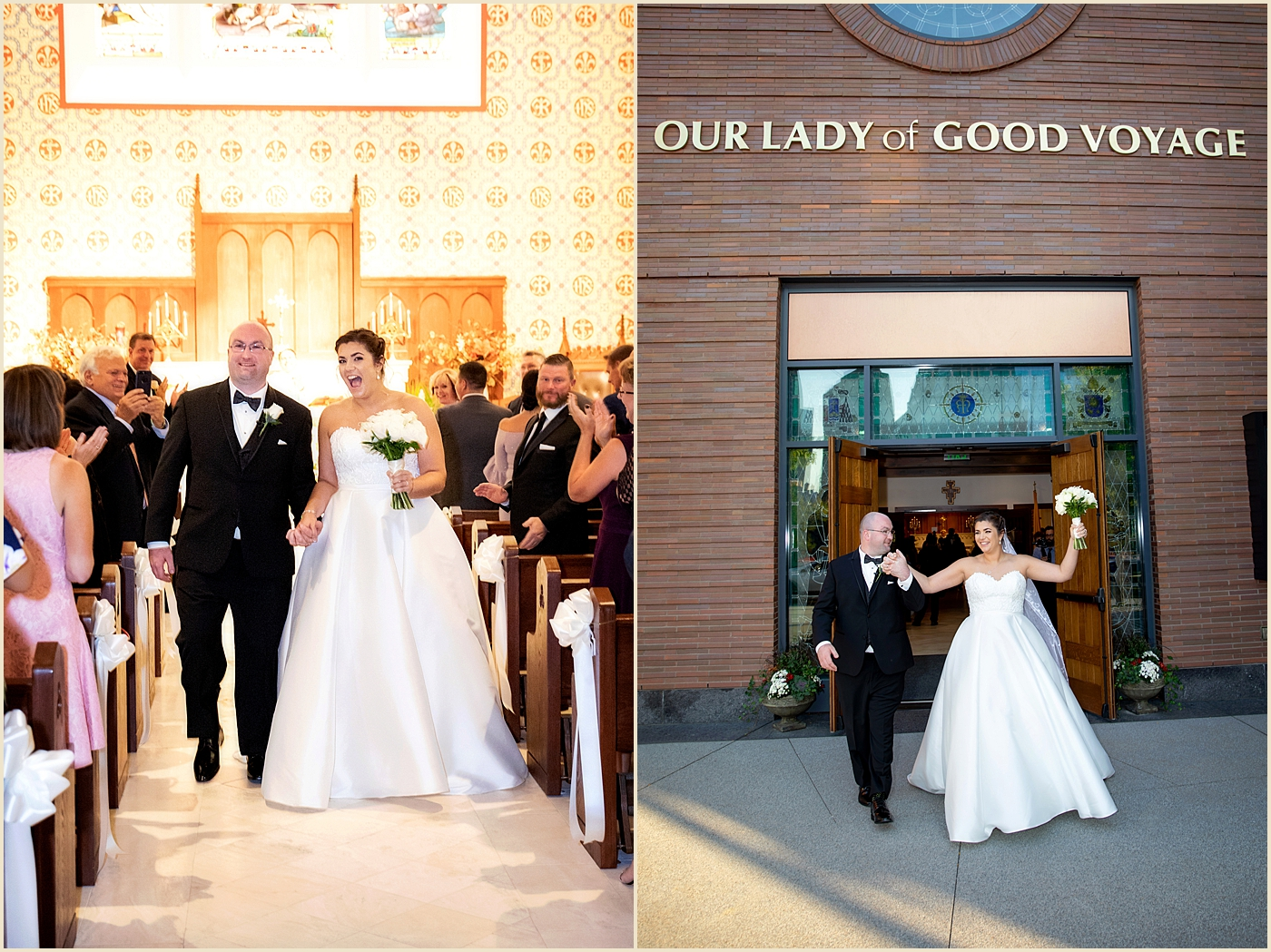 Boston Seaport Wedding Our Lady of Good Voyage
