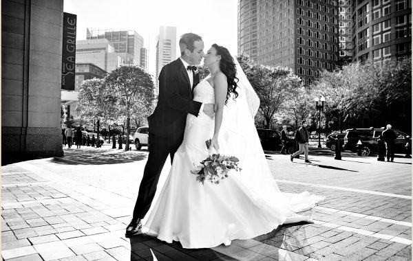 Fall Wedding at the Boston Harbor Hotel of Catherine and James
