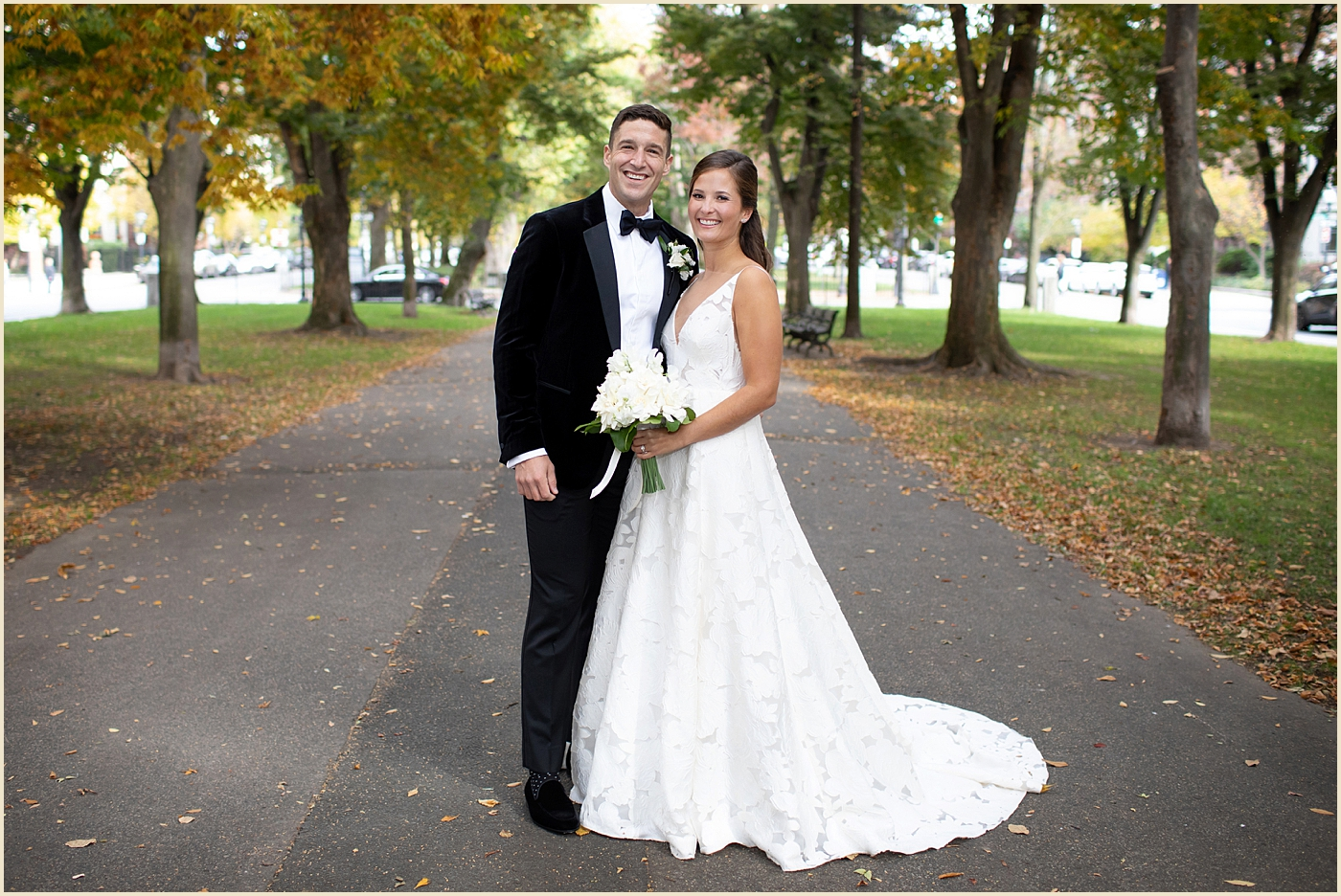 Boston Fall Wedding Photography Comm Ave