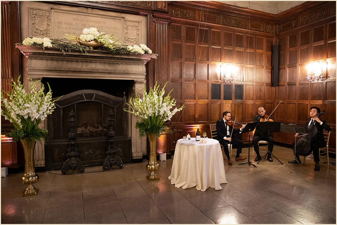 Harvard Club Boston Wedding Ceremony