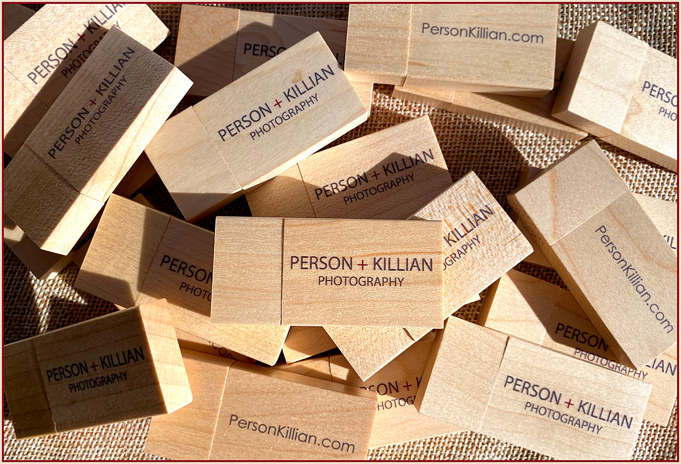 Boston Weddings and Events - Person + Killian Photography Wedding Season Custom Wooden USB Flash Drives