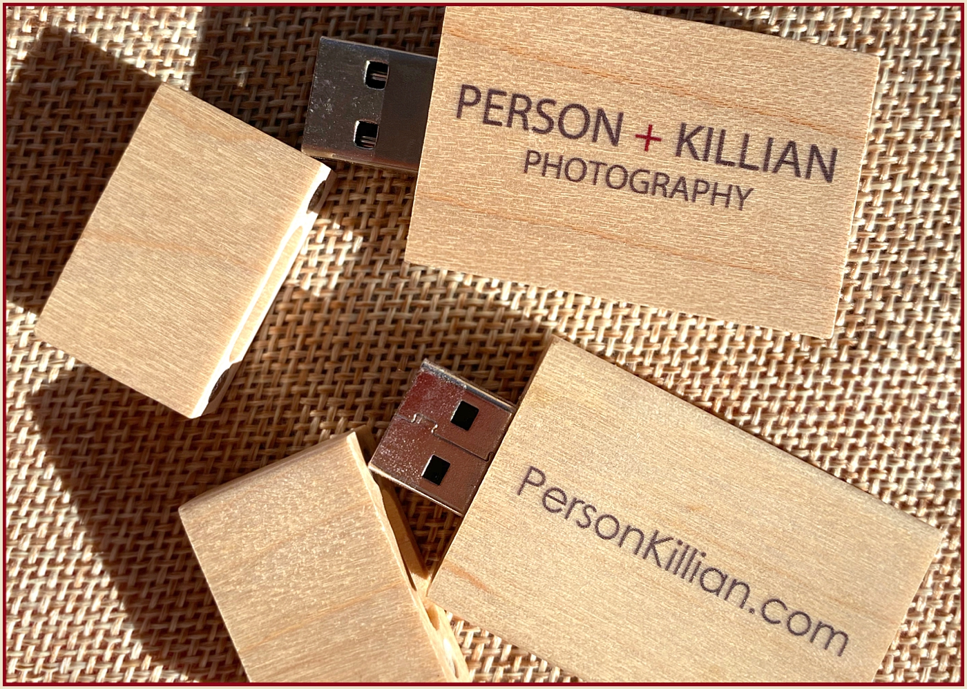 Boston Weddings and Events Person + Killian Photography Wedding Season Custom USB Flash Drives