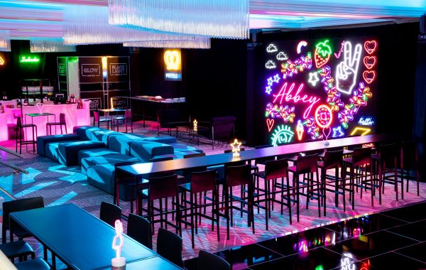 Neon Lights Themed Bat Mitzvah with AE Events