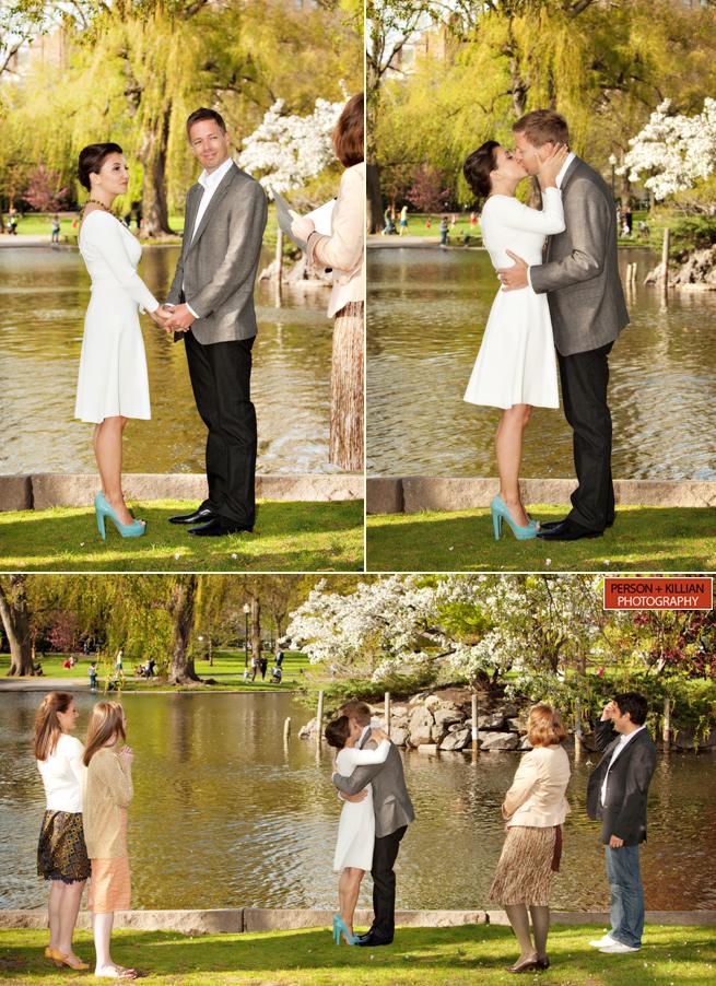 Boston Public Garden Wedding Person Killian Photography