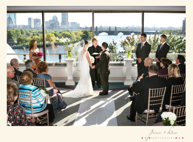 The Intimate Boston Wedding Reception Took Place In Museum S Skyline Room And Included Rich Chocolate Brown Linens From Be Our Guest Gorgeous Cake